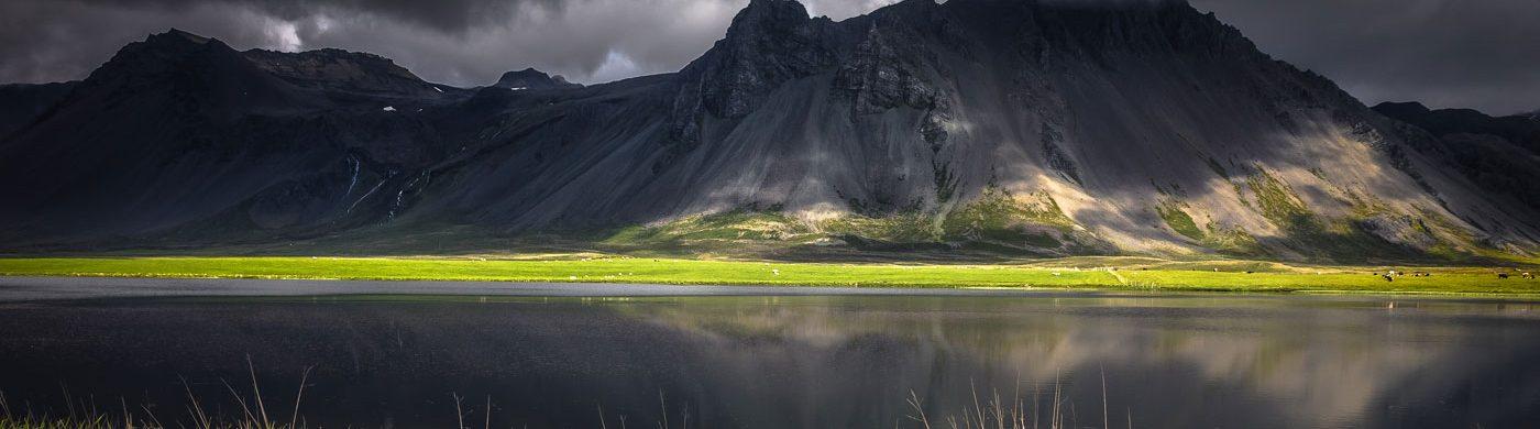 Vue d'un volcan en Islande