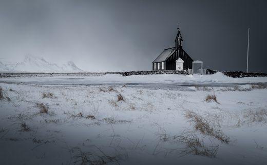 Eglise de Búðir dans la péninsule de Snaefellsnes