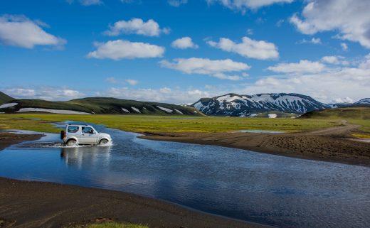 Traversée de gué - Région de Landmannalaugar