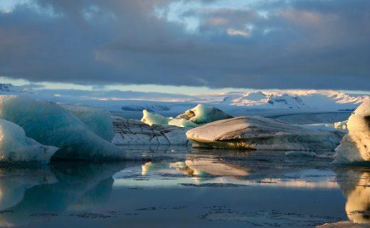 Glacier du Jökulsárlón en Islande