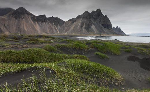 Fjord de Stokksnes dans l'Est de l'Islande