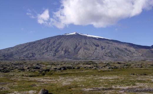 Glacier du Snæfellsjökull dans la péninsule du Snaefellsnes