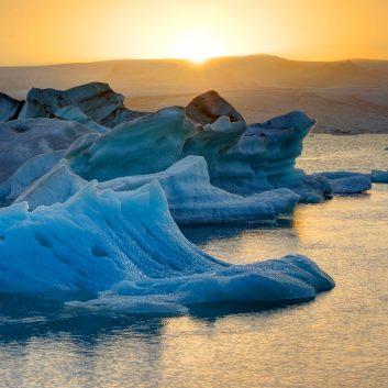 Icebergs, Baie de Disko, Groenland