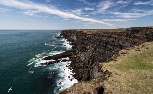 Les falaises de Reykjanes dans le Sud de l'Islande
