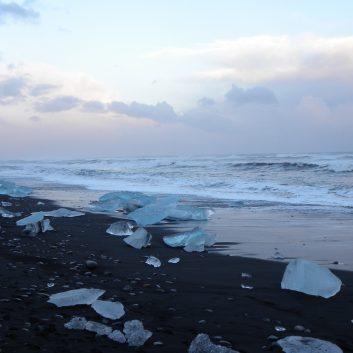 Plage aux icebergs