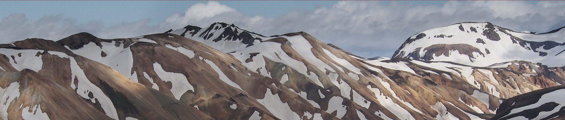 Vue de montagnes enneigées en Islande