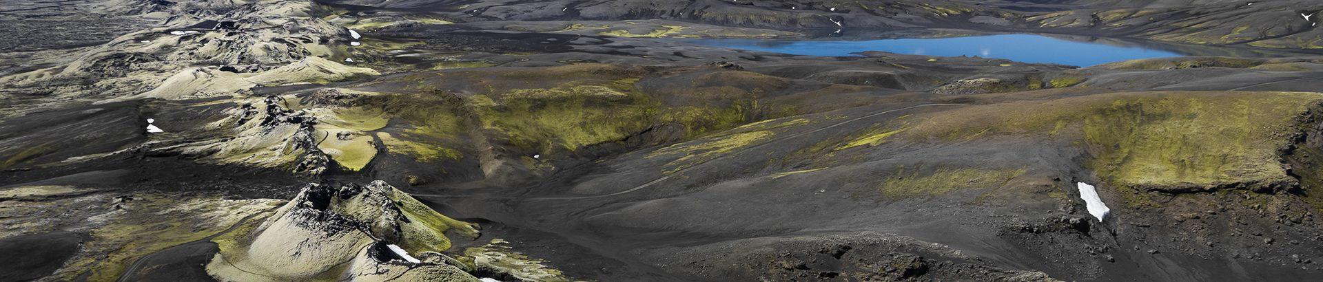 Vue sur les cratères du Laki en Islande