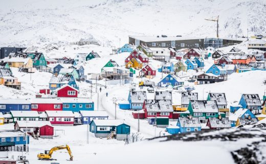Colorful Houses in Ilulissat in North Greenland